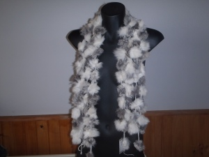 The fur scarf available from All Over Make Over facebook page